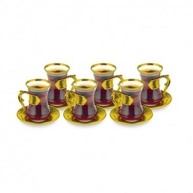 Dorelıne Damla Altın 6Lı Çay Seti Altın